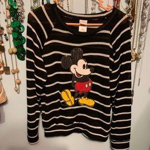 Disney Mickey Mouse Striped Sweater, black, XL